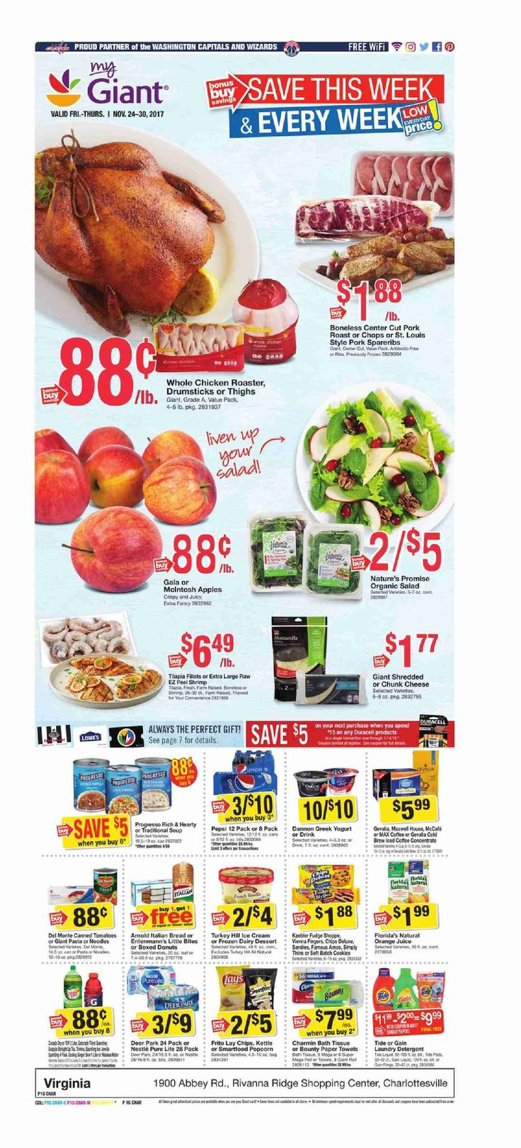 Giant Food Weekly Ad November 24 - 30, 2017 - http://www.olcatalog.com/grocery/giant-food-weekly-ad.html