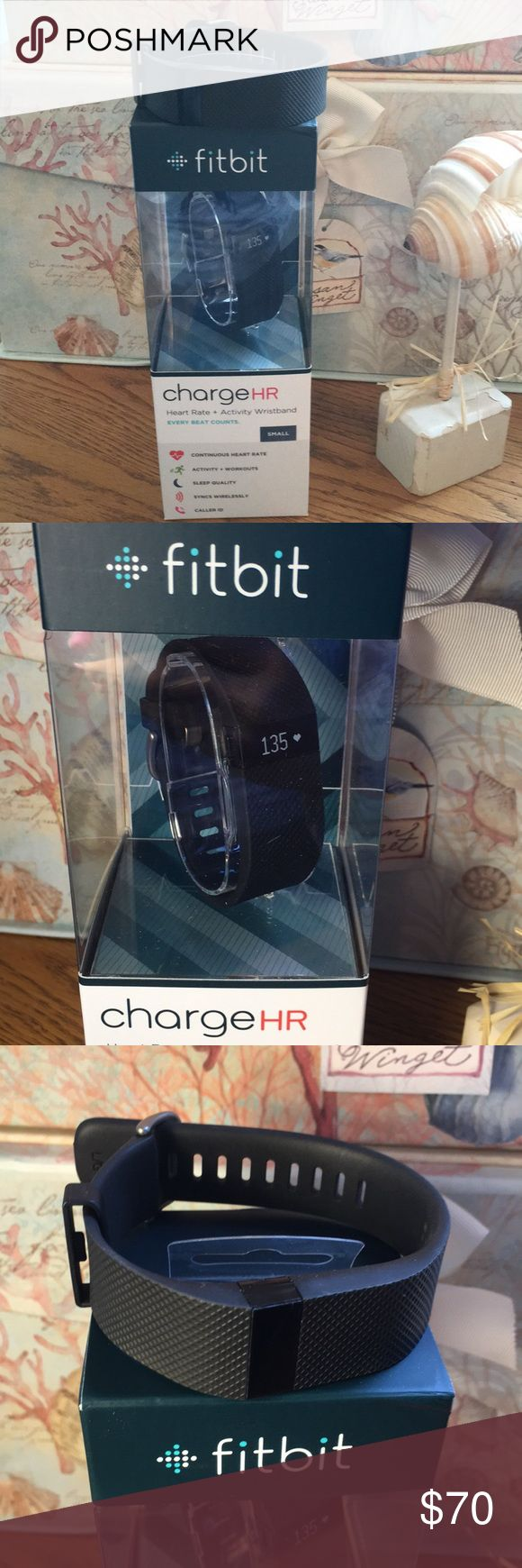 2 Fitbit's Charge HR Wireless Activity Wristbands. 2 Fitbits, 1 Small size and 1 Large size. Sync stats wirelessly & automatically to your computer and smartphone, including Android, iOS and Windows. Set goals, log food, see progress, analyze trends, earn achievement badges through your mobile & online dashboard. Share & compete with friends & family on the leaderboard and in New Fitbit challenges. PurePulse Heart Rate. Activity Tracking. Auto Sleep & Silent Alarm. Exercise Tracking. Caller…