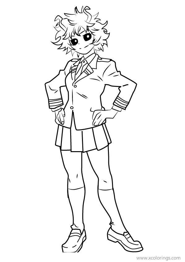 My Hero Academia Mina Ashido Coloring Pages My Hero Anime Lineart Anime Character Drawing