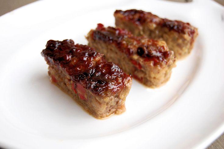Meatloaf in miniature loaf pans