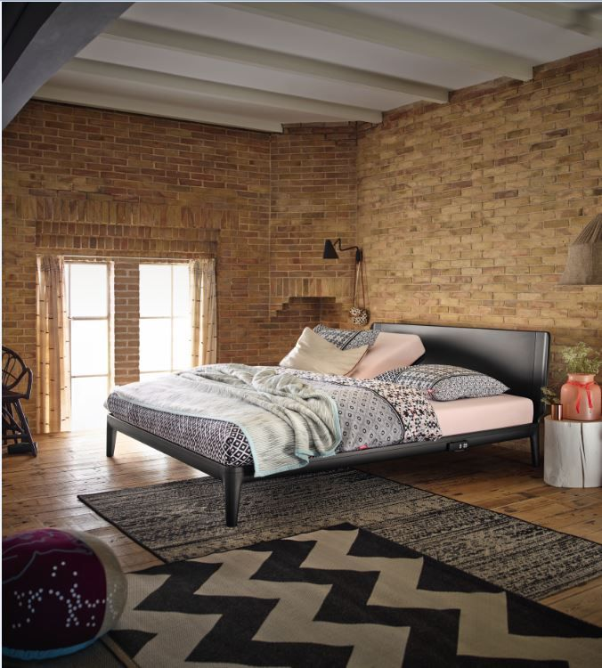 auping essential zwart bij nico van de nes www. Black Bedroom Furniture Sets. Home Design Ideas