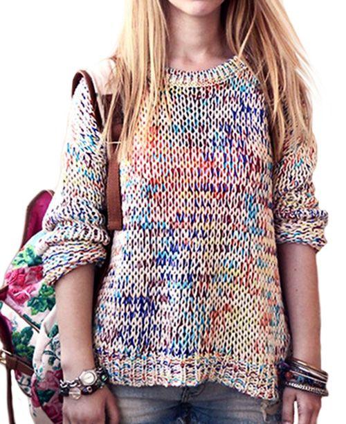 Suéter feminino de lã