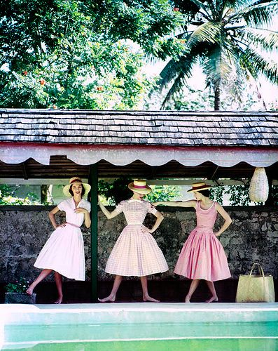 A lovely trio of pink summer frocks