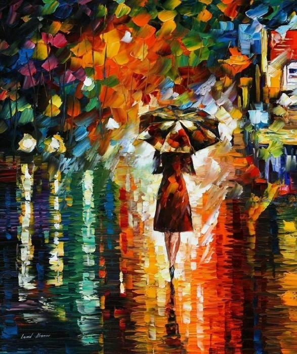I love this!: Rain Princess, Inspiration, Leonidafremov, Colors, Art, Beautiful, Paintings, Leonid Afremov