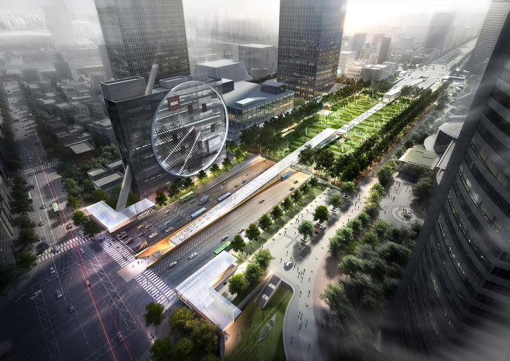 Proposta de Dominique Perrault para centro multifuncional subterrâneo é escolhida em Seul
