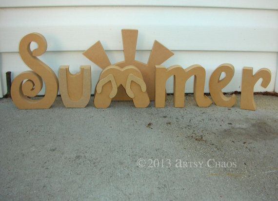 100 best scroll saw projects images on pinterest woodworking unfinished wood summer letters seasonal sunny by artsychaos spiritdancerdesigns Images
