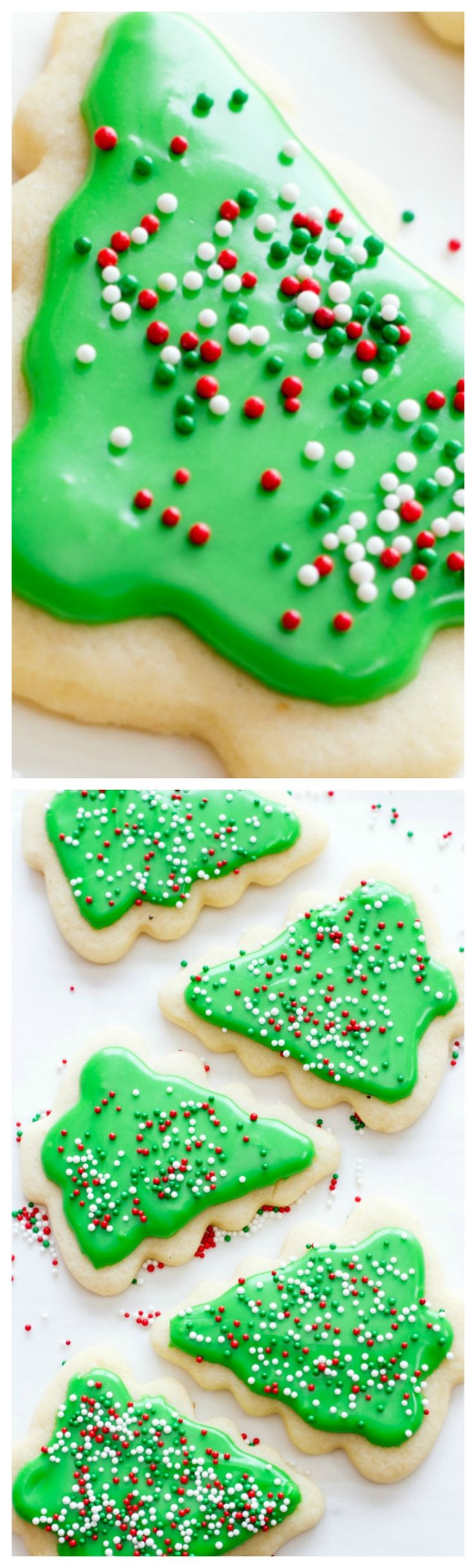 Perfect Frosted Sugar Cookies ~ Looking for the perfect sugar cookie recipe for cutouts? This is it! Delicious, mildly flavored, and they don't spread in the oven!