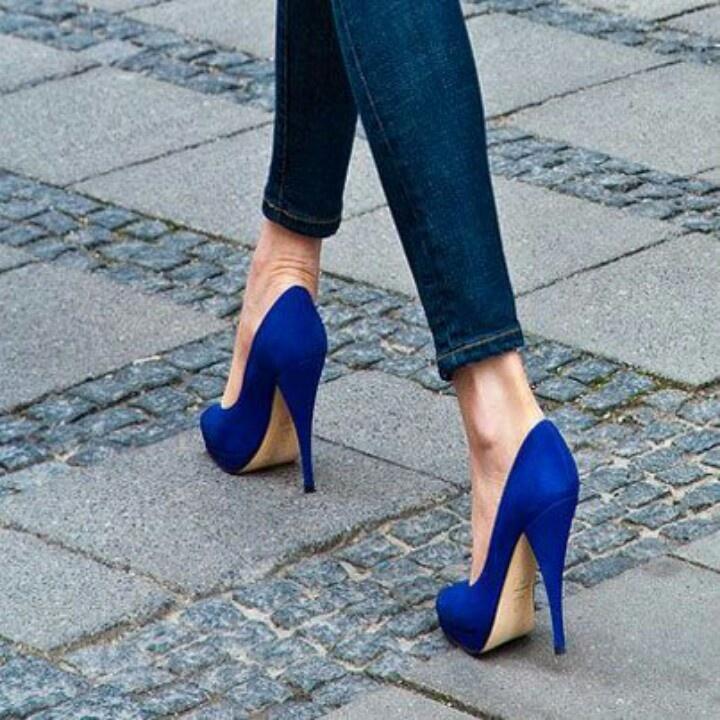 Royal Blue heels   www.ScarlettAvery.com