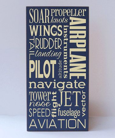 This Navy & Cream Airplane Wall Art is perfect! #zulilyfinds