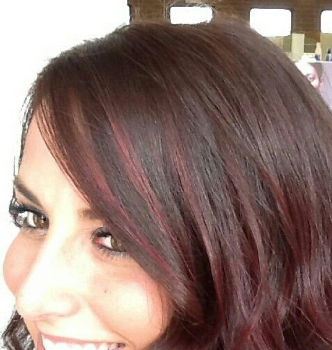 dark hair -subtle scattered- highlights -not too ...