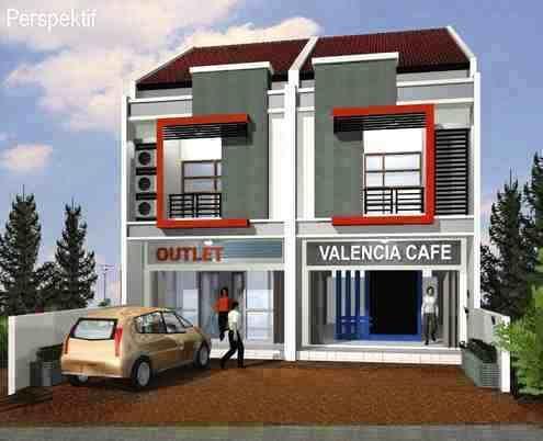 Desain Rumah Minimalis Ruko Minimalis 2 Lantai - RUMAHMURIA.COM - Untuk anda yang memiliki modal banyak, tentu bukan menjadi masalah untuk memiliki rumah