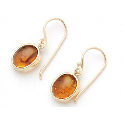 9ct Small Amber Earring. gerrim.com