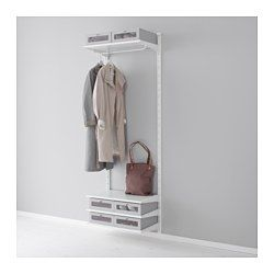 IKEA - ALGOT, Wall upright/shelves/rod, The parts in the ALGOT series can be combined in many different ways and so can easily be adapted to needs and space.As you only need to click in the brackets, shelves and accessories, it is easy to assemble, adjust and change your storage solution.Can be used anywhere in your home, even in damp areas like the bathroom and under covered balconies.