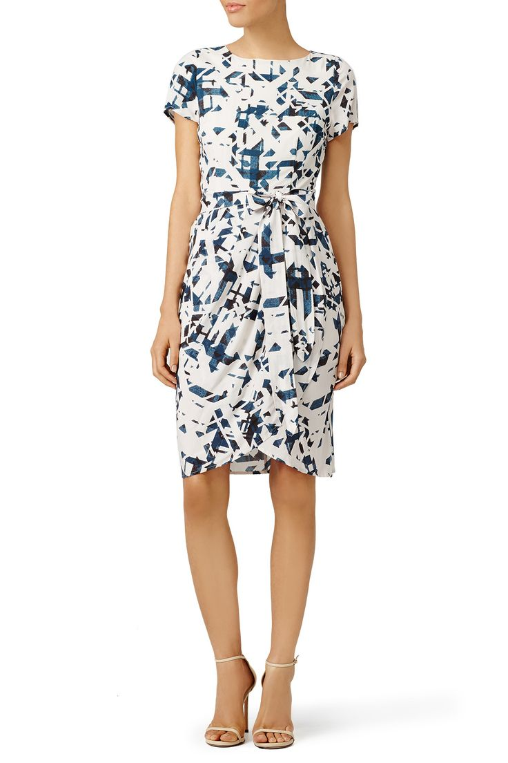 Graphic and tiered, this Yumi Kim wrap dress is eye-catching and flattering.