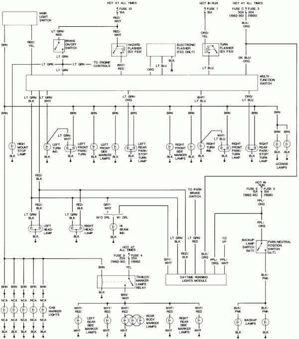 12 94 Ford Ranger Engine Wiring Diagram Engine Diagram Wiringg Net Motores