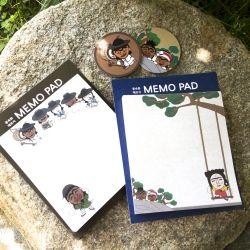 ::Korea Souvenir:: Hahoetal Memo Pad(Dan_opungjung/Mudong)Korea folk painting 하회탈 풍속화메모지
