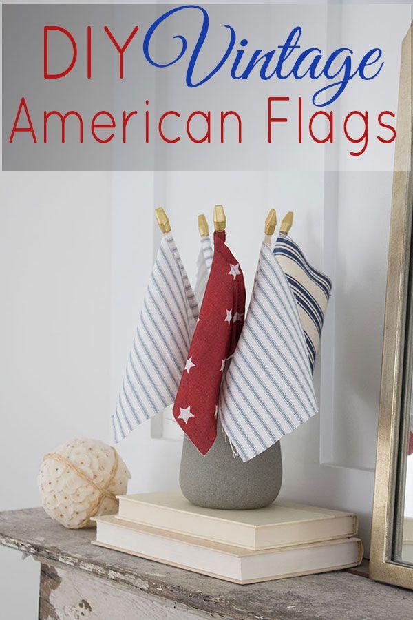 Vintage American Flag DIY
