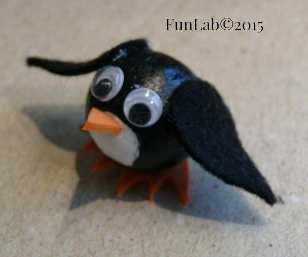 Lavoretti per bambini: mini Pinguino fai da te