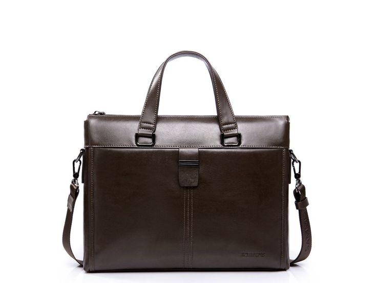 Pánska taška Leather Brown. Pánska kožená business taška Leather Brown