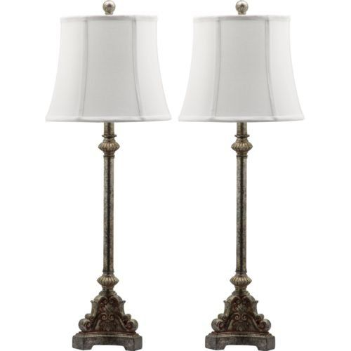 Set Of 2 Antique Style Lamps Table Lamp Tall Lamps Accent