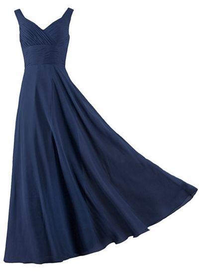 Women's Sleeveless High Waist Long Bridesmaid Dress OASAP.com