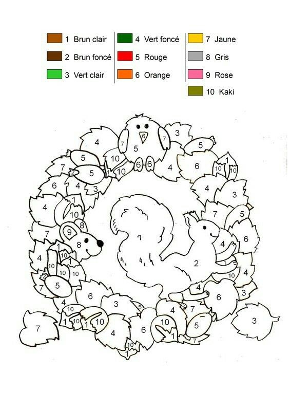 Mejores 8 imágenes de coloriage magique en Pinterest   Color por ...