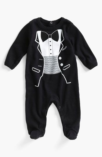 Sara Kety Baby & Kids 'Tuxedo' Footie (Infant) available at #Nordstrom