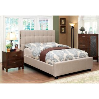 Furniture of America Behati 2-piece Bluetooth Ivory Bed with Nightstand Set - Overstock™ Shopping - Big Discounts on Furniture of America Bedroom Sets