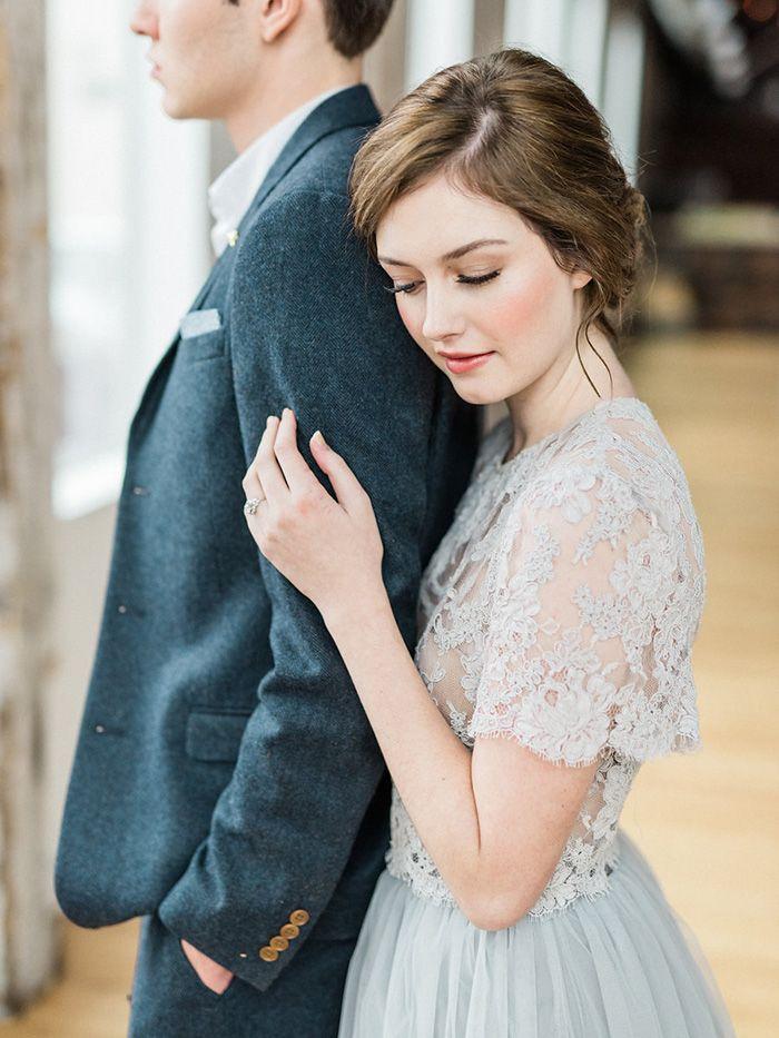 Winter Gray Wedding Portraits