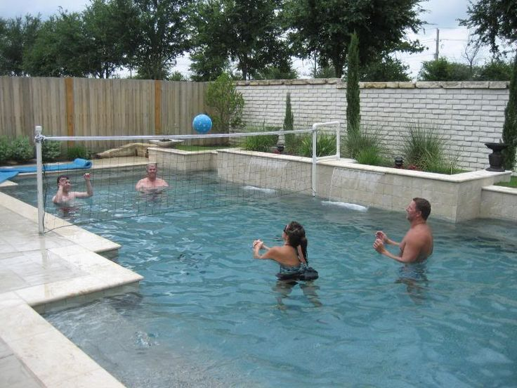 17 best ideas about pool volleyball net on pinterest for Pool design for volleyball