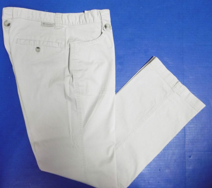 COLUMBIA WOMEN'S KHAKI PANTS SZ 6 REG  FRONT & REAR POCKETS COTTON/POLY/ELASTANE #Columbia #ColumbiaKhaki