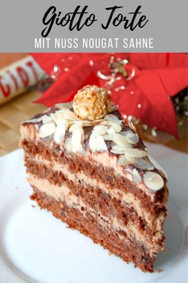 Nougat Giotto Torte Rezept In 2020 Giotto Torte Coole Desserts Kuchen Rezepte