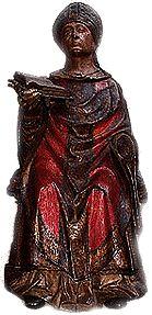 L'abbaye de Saint-Germain , statue du XV°s - 25) SAINT GERMAIN, EVEQUE D'AUXERRE. L'HOMME. Né vers 378 dans la région auxerroise, Germain appartient à une famille aristocratique de poprietaires fonciers gallo-romains, actifs dans le gouvernement de la cité. D'abord formé aux arts libéraux en Gaule, il parfait son éducation juridique à Rome.