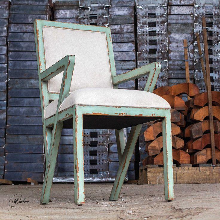 Uttermost Zenia Seaglass Green Armchair