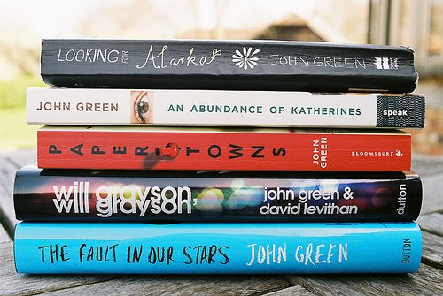All the John Green books- looking for alaska, an abundance of katherines, paper towns, will grayson, the fault in our stars