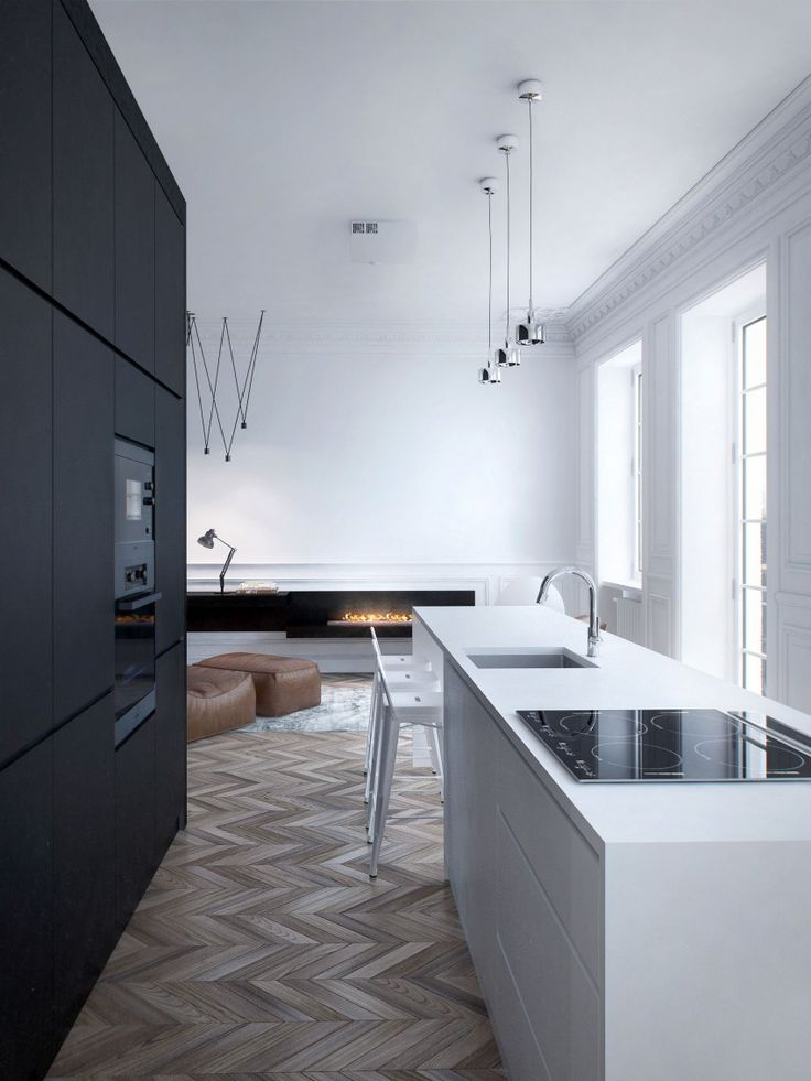 Modern #kitchen Apartment Displaying an Artistic Flare by INT2 Architecture - http://freshome.com/2014/05/13/modern-apartment-displaying-artistic-flare-int2-architecture/