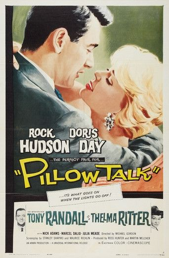 """Pillow Talk"" (1959), starring Rock Hudson and Doris Day #Hollywood #movies #1950s"