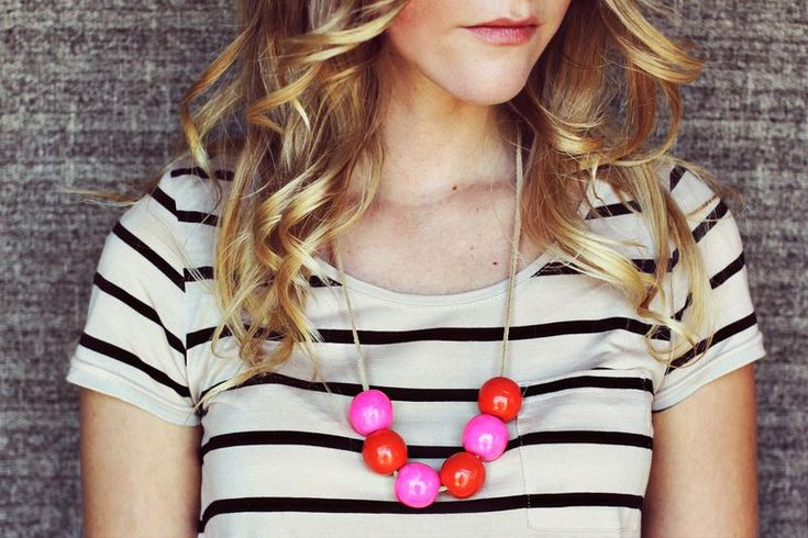 Bauble necklace DIY: Bauble Necklace, Craft, Idea, Statement Necklaces, Diy Gift, Diy Necklace, Diy Jewelry