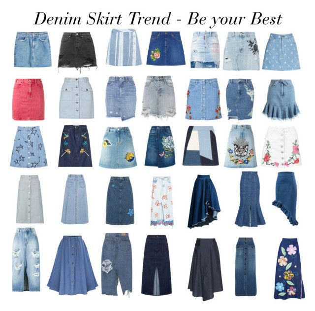 Denim Skirt Trend by gabriela2105 on Polyvore featuring moda, Gucci, Peter Pilotto, Chloé, Dolce&Gabbana, STELLA McCARTNEY, Dsquared2, Marc Jacobs, Amanda Wakeley and rag & bone
