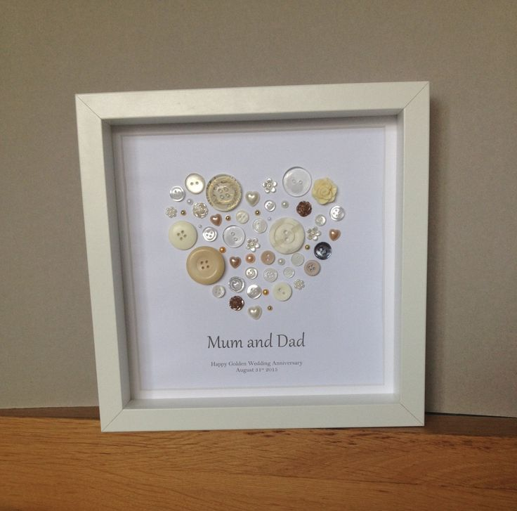 Art, 50th Anniversary Gift, Golden Anniversary Present, 50th Wedding ...