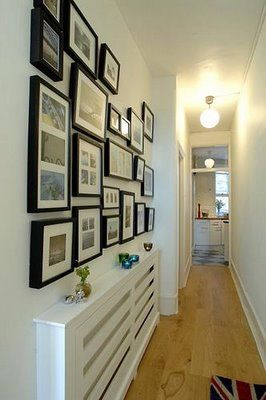 How to decorate hallways with pictures