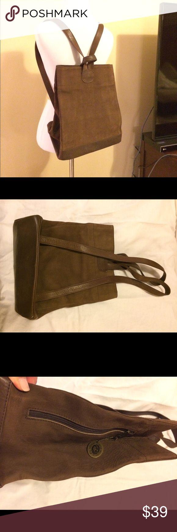 Selling this Ellington brown leather convertible bag on Poshmark! My username is: 1crowdedcloset. #shopmycloset #poshmark #fashion #shopping #style #forsale #Ellington #Handbags