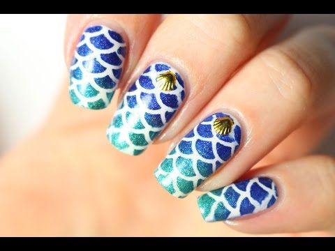 Чешуя русалки / Les mermaid nails, deuxième technique! - Видео уроки маникюра - Видео - Ноготочки (все о ногтях)