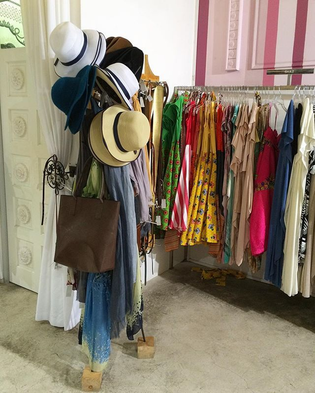 Hats, bags & rails filled with colourful frocks just waiting to be worn! #safashion #shoppingspacesa