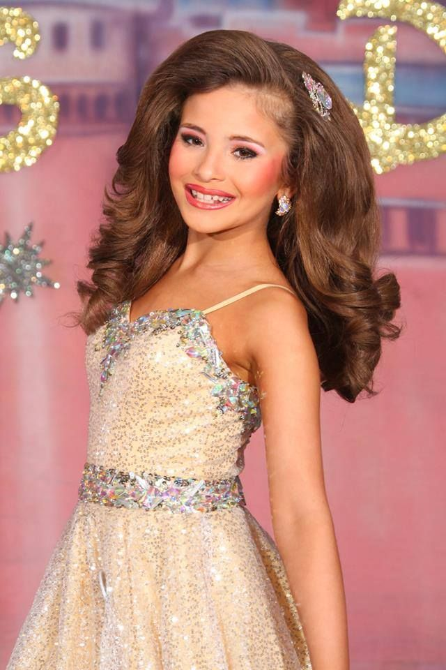 Glitz pageant hair