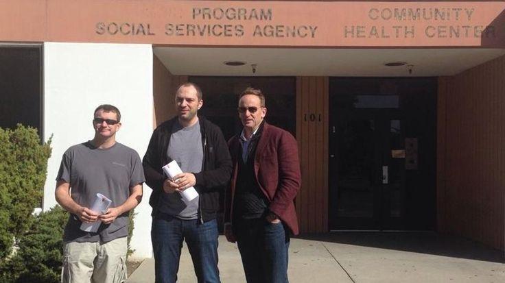 Brian Acton, Jan Koum and Sequouia Capital's Jim Goetz pose for a photo after signing WhatsApp's historic Facebook deal. (Photo courtesy of Jan Koum)