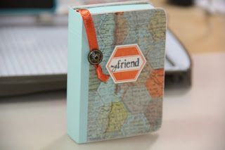 """Check out this tutorial to make an adorable """"book"""" gift card holder."""
