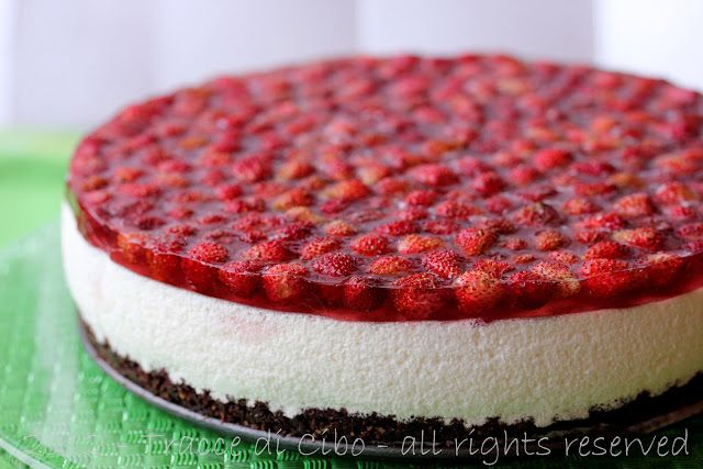 cheesecake leggera alle fragoline di bosco