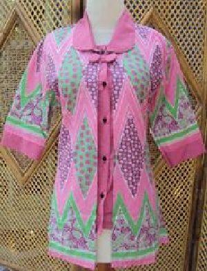 Blus Batik Sistar Pink Bahan katun, batik printing, ukuran lingkar dada 90-100cm
