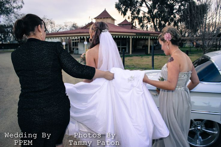 Moving the bride from one location to the next thats what a planner is for.